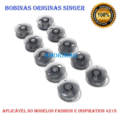 Bobina Singer Fashion e Inspiration Original Kit Com 10 Unidades